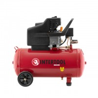 Компресор 50л, 2HP, 1.5кВт, 220 В, 8aтм, 206л/хв. INTERTOOL PT-0003