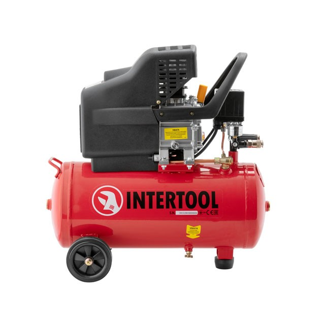 Компресор 24л, 2HP, 1.5квт, 220 В, 8aтм, 206л/хв. INTERTOOL PT-0009