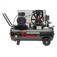 Компресор 50л, 2.5HP, 1.8квт, 220 В, 8aтм, 233л/хв. INTERTOOL PT-0011